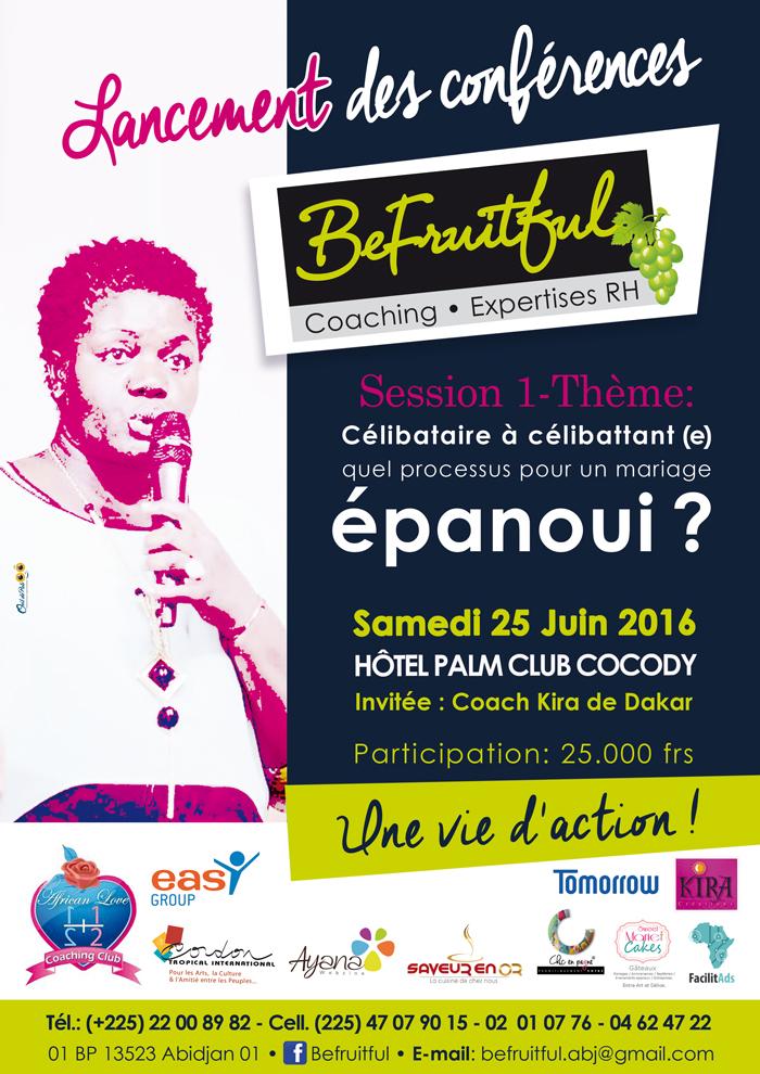 conférence BEFRUITFUL, palm club Abidjan
